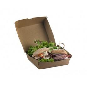 Box hamburger in poliestere mod.136708 collezione TAKE AWAY monouso , 16 x 16 x h 9 cm (conf. 50 pezzi)