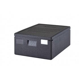 Contenitore isotermico in polipropilene mod. 133275 Morini con coperchio, cap. 53 litri, 690x490x270h mm, colore nero