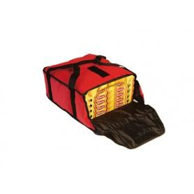 Borsa termica alto isolamento mod. 136701, cap. 5 cartoni pizza ø 36 cm,  430x420x200h mm, colore rosso