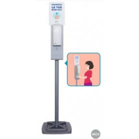 Colonna dispenser igienizzante automatico in acciaio verniciato e polipropilene, altezza 171 cm (igienizzante escluso)