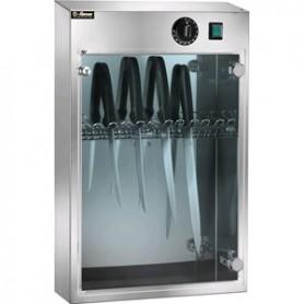 Armadietto sterilizzatore mod. Suv 10, raggi UV, cap. 10 coltelli, portina trasparente, 43x16x64h cm, 16w