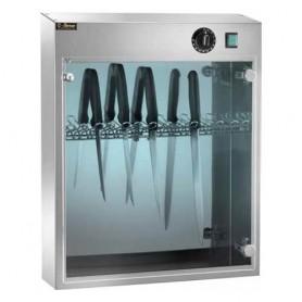 Armadietto sterilizzatore mod. Suv 14, raggi UV, cap. 14 coltelli, portina trasparente, 54x16x64h cm, 16w