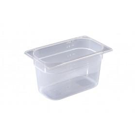 Contenitore in polipropilene gastronorm, misura GN 1/4, 4 altezze (65/100/150 e 200 mm)