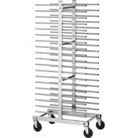 Carrello portateglie per pasticceria mod. CA1480D Forcar, cap. 20 teglie, struttura e guide in acciaio inox, 51x47x177h cm