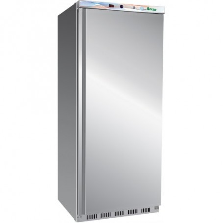 Armadio frigo statico EcoLine inox mod. G-ER600SS Forcar, cap. 555 litri, +2°/+8°C, 3+1 ripiani, 77x69x189h cm, 185W, Monofase