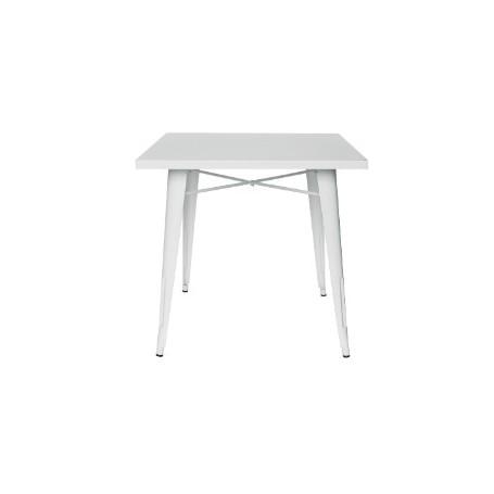 Tavolo per interno mod. 972-36 Rossanese in metallo verniciato, 80x80x74h cm, colore bianco