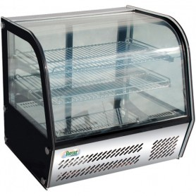 Espositore refrigerato vetri curvi mod. G-VPR100 Forcar +2°+8°C, cap.100 L, ventilato, 69,5x46,2x67h cm