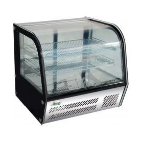 Espositore refrigerato vetri curvi mod. G-VPR120 Forcar +2°+8°C, cap.120 L, ventilato, 69,5x58x67h cm