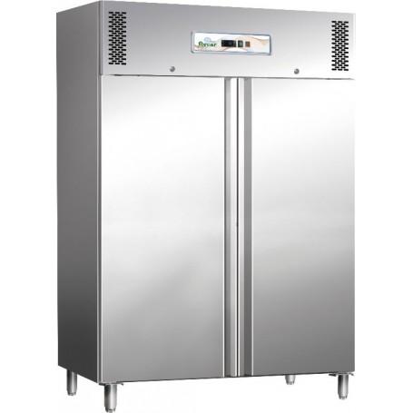 Armadio congelatore ventilato Professional Line inox G-GN1410BT Forcar, 2 porte, -18°/-22°C, 6 griglie GN 2/1, 148x83x201h cm