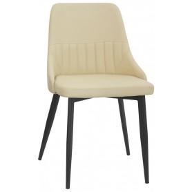 Sedia per interno mod. 1528-T07 Rossanese, struttura in metallo verniciato nero, rivestimento in ecopelle, 5 colori