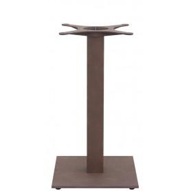 Base in ghisa verniciata effetto ruggine con piedini regolabili per interno mod.1354-T40RU Rossanese, 40x40x72h cm