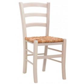 Sedia per interni mod. 1037-G03 Rossanese in legno con seduta in paglia, disponibile in 4 colori