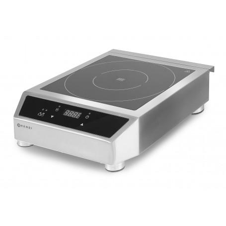Piastra ad induzione mod. 3500 D Hendi Food, struttura in acciaio inox, touch screen digitale, temperatura e timer