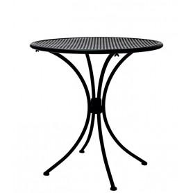 Tavolo per esterno tondo ø 60 cm mod.128-MA01A Rossanese in metallo verniciato, disponibile in 3 finiture