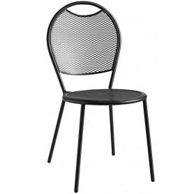 Sedia per esterno mod.809-C78 Rossanese in metallo verniciato, impilabile