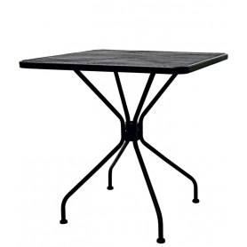 Tavolo per esterno 70x70 cm mod.130-MA094 Rossanese in metallo verniciato, disponibile in 3 finiture