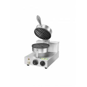 Macchina per waffle mod. WM1 Fimar Easyline, struttura in acciaio inox, diametro 18,5 cm, 50÷300°C, 1 kW