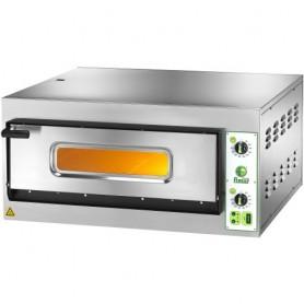 Forno elettrico per pizzeria mod. FES 4 Fimar con 1 camera H 14cm, piano cottura refrattario, porta con vetro, Monofase/Trifase