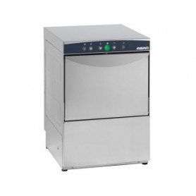 Lavabicchieri elettronica mod. AF 35.25E Aristarco, cesto 35x35 cm, h utile 25 cm, 2 dosatori di serie, vasca stampata