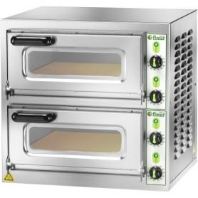 Forno elettrico pizzeria mod.MICROV2C Fimar 2 camere h11 cm, piano cottura refrattario, doppia porta con vetro, Monofase/Trifase