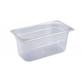 Contenitore in polipropilene gastronorm, misura GN 1/3, 4 altezze (65/100/150 e 200 mm)