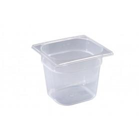Contenitore in polipropilene gastronorm, misura GN 1/6, 4 altezze (65/100/150 e 200 mm)