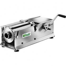 Insaccatrice manuale orizzontale mod. LT7OR Fimar in acciaio inox, 2 velocità, 3 imbuti in dotazione