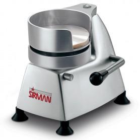 Hamburgatrice manuale mod. SA130 Sirman diametro 130 mm struttura in alluminio anodizzato e stampo in acciaio inox