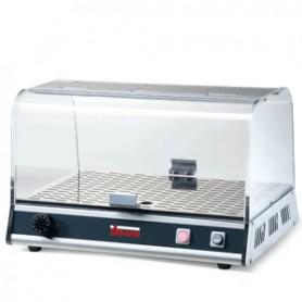 Vetrinetta bar riscaldata 1 piano mod. Vista P1 Brioches in alluminio anodizzato Sirman, max 40°C, 50x35,5x32,5h cm, 300W