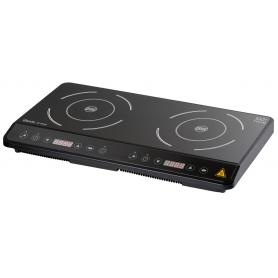 Piastra a induzione 2 zone da banco mod.105836S Karel, display digitale, 10 livelli potenza, 60°÷240°C, 3,5kW