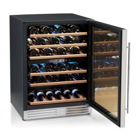 Cantinetta vino refrigerata ventilata a 2 zone Karel modello CA51-2, 1 porta, cap.150 litri / 51 bottiglie da 0,75 cl, 120 W