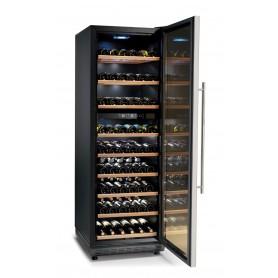 Cantinetta vino refrigerata ventilata a 2 zone Karel modello CA182, 1 porta, cap. 450 / 182 bottiglie da 0,75 cl, 160 W