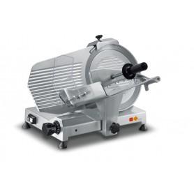 Affettatrice a gravità AMR300 Karel con affilatoio, lama in acciaio inox diametro 300 mm, potenza 0,25 kW Monofase/Trifase