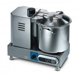 Cutter CSK53 Karel, capacità vasca in acciaio inox 5,3 litri, 1100-2600 giri al minuto con variatore velocità, 350 W