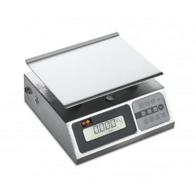 Bilancia elettronica mod. BLE40X Karel, portata 40 Kg / divisione 10 grammi, display digitale, piatto merce in acciaio inox